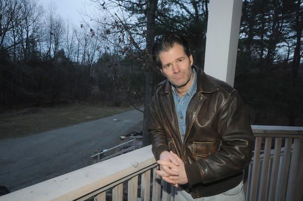 Newbury: Author Andre Dubus III<br />  at his Newbury home. Jim Vaikoras/Staff photo