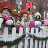 Amesbury: Brownie fron troop 63163 dressed as flowers in the annual Santa Parade in Amesbury Saturday. Jim Vaiknoras/Staff photo