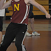 North Andover: Newburyport's Trevor Bituck throws the shot putt at the Clippers meet at North Andover Saturday morning. JIm Vaiknoras/Staff photo