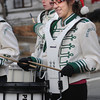 Merrimac: Emma Formosi plays the snare drum in the Pentucket Middle School band  at the annual Merrimac Santa Parade. Jim Vaiknoras/Staff photo