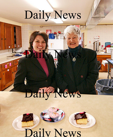 Amesbury: Lyndsey Haight, left, is the new executive dircetor at Our Neighbor's Table in Amesbury, who will be taking over for long time director, Rosemary Werner, right. Photo by Ben Laing/Staff Photo