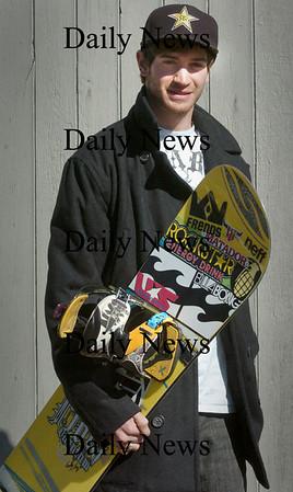 Hampton Fall, N.H.: Olympic-bound snowboarder Scotty Lago. Bryan Eaton/Staff Photo