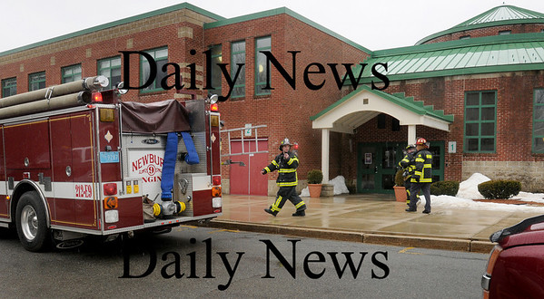 Newbury: Newbury Elementary School was temporarily evacuated yesterday  as safety officials responded to a strange smell present. Bryan Eaton/Staff Photo