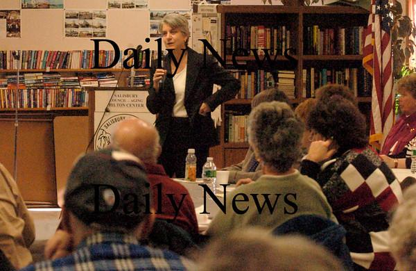 Salisbury:  Massachusetts Secretary of the Executive Office of Elder Affairs, Ann L. Hartstein, held a public forum at the Salisbury Senior Center in Salisbury on Friday. Bryan Eaton/Staff Photo