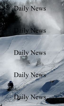 Amesbury: Snowmaking and grooming equipment were at full speed yesterday at Amesbury Sports Park as temperatures for the week are staying in the below freezing mark. Normal average temperatures for this time of year are 37 degrees. Bryan Eaton/Staff Photo