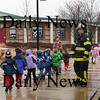 Newbury: Preschoolers leave Newbury Elementary School yesterday while fire personnel investigate a strange smell yesterday morning. The school was temporarily evacuated until officials arrived to investigate. Bryan Eaton/Staff Photo