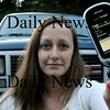 Merrimac: Karen Mailman of Merrimac is advocating no phone texting while driving, after she wrecked her car while doing so, and now drives the truck behind her. Bryan Eaton/Staff Photo