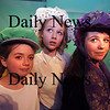 Newburyport:Katherine Hall as Terta, Christina Beck as Prima, and Allegra Larson as Secunda  in Alice in Wonderglass, a new play/adaptation by Marc Clopton at the Actors Studio in Newburyport. Jim Vaiknoras/Staff photo