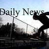 Amesbury: Jordan Butts of Amesbury rides the rail at the Amesbury Skate Board Park late Sunday afternoon. Jim Vaiknoras/Staff photo
