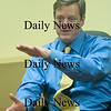 Newburyport:Gubernatorial candidate Charlie Baker talks with  The Daily News. Jim Vaiknoras/Staff photo