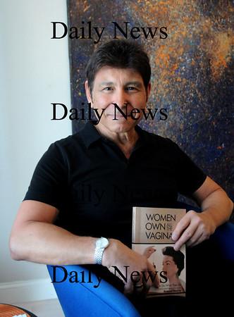 Newburyport: Author Richard Nocera with his book, Women Own all the Vaginas. Jim Vaiknoras/Staff photo