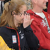 Seabrook:Olympian Scotty Lago parents Christine and Mike Lago look on during a ceremony  honoring him at Seabrook Town Hall  Sunday. Jim Vaiknoras/Staff photo