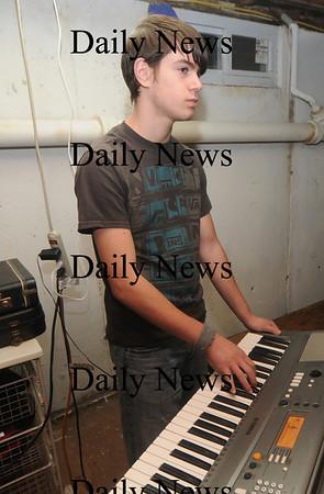 Amesbury: Middle School band Audio Rush's Jacob Myer on keyboards. Jim Vaiknoras/Staff photo