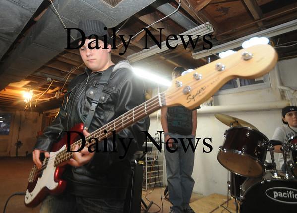 Amesbury: Middle School band Audio Rush's Ryan Collins on bass. Jim Vaiknoras/Staff photo