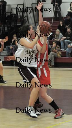 Newburyport: Newburyport's Mallory Stasio looks for her shot against Masco Friday night at Newburyport high school. JIm Vaiknoras/Staff photo