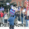 Newburyport: Supporters of senatorial candidate Scott Brown rally Sunday afternoon in Market Square in Newburyport. Jim Vaiknoras/Staff photo