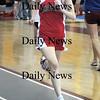 North Andover: Amesbury's Rebecca Crochiere runs the 600 at the meet in North Andover Saturday. Jim Vaiknoras/Staff photo
