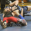 Byfield:Triton's Colton Blanchette wrestles North Andover's Jason Ricketts Wednesday at Triton. Jim vaiknoras/Staff photo