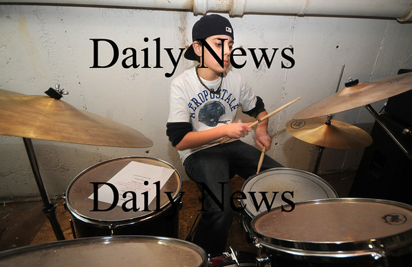 Amesbury: Middle School band Audio Rush  Brendon Hanson on Drums. Jim Vaiknoras/Staff photo