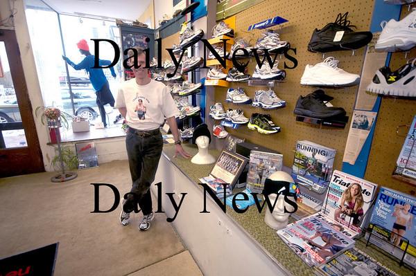 Newburyport: Rick Bayko at his store the Yankee Runner in Newburyport. Jim Vaiknoras/Staff photo