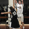 Newburyport: Newburyport's Nick Welch hits a jumper against Shawsheen Sunday night at Newburyport high school. Jim Vaiknoras/Staff photo