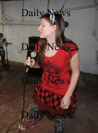 Amesbury: Middle School band Audio Rush's Aspen Gibbas on vocals,  Jim Vaiknoras/Staff photo