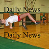 West Newbury: Pentucket track standout, Breanna Yocum, practices her high jump Monday afternoon. Photo by Ben Laing/Staff Photo