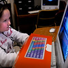 Amesbury: Nicole  Libby, 9, works on the computer in Bruce McBrien's class at Amesbury Elementary School on Tuesday morning. Her hands are covered to the children can improve their typing skills on the computer's keyboard. Bryan Eaton/Staff Photo