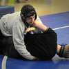 Georgetown: Georgetown wrestler Dean Nemeroff, top, in practice. Bryan Eaton/Staff Photo