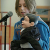 Salisbury: Budding ventriloquist Tommy Donovan, 11, performed his act with two different dummies for other sixth-graders at Salisbury Elementary School on Thursday morning. He started practicing his craft last summer and hopes to make his hobby into a profession some day. Bryan Eaton/Staff Photo