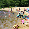 Amesbury: Crowds gathered at Lake Gardner Monday afternoon, making the most of the sunshine before a thunderstorm rolled through the area. Photo by Ben Laing/Staff Photo