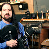"Salisbury: Local film maker, Michael Surawski, in his Salisbury studio. Michael has created a show titled, ""Regional Chroicles"", which features local historical stories from across New England. The show will air this Saturday at 2pm on MyTV. Photo by Ben Laing/Staff Photo"
