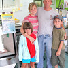 Seabrook: Carolyn and Eddie Eastman of Eastman's Fish Market in Seabrook, with their kids Ellie, 7, and Nico, 9. Photo by Ben Laing/Staff Photo