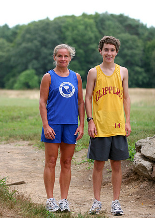 Newburyport: Chris Suprin, 16, and his mom, Stephanie, are set to run in this year's Yankee Homecoming Road Race. Photo by Ben Laing/Staff Photo