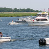 Newburyport: Boat traffic was heavy in the Merrimack Monday afternoon as people celebrated the holiday weekend on the water. Photo by Ben Laing/Staff Photo