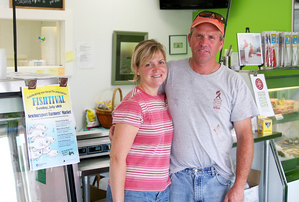 Seabrook: Carolyn and Eddie Eastman of Eastman's Fish Market in Seabrook. Photo by Ben Laing/Staff Photo