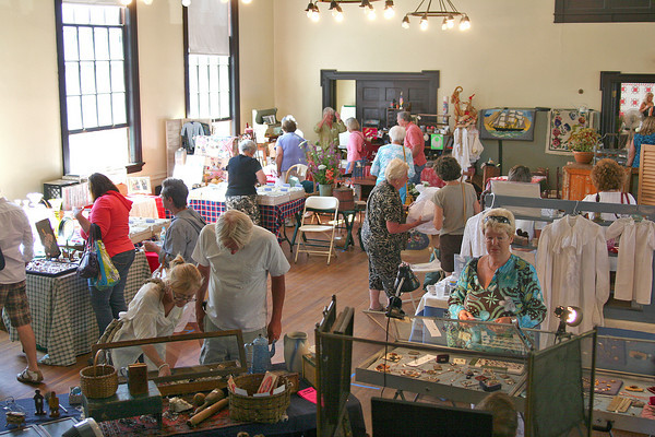 Newburyport: The annual antique show and sale at the Belleville Church took place Monday morning as part of the Yankee Homecoming celebrations around Newburyport. Photo by Ben Laing/Staff Photo