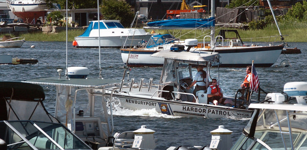 Newburyport: The Newburyport Harbor Patrol heads up the Merrimack River yesterday afternoon. Local harbor masters and the US Coast Guard should have a busy holiday weekend as the weather forecast is supposed to be stellar. Bryan Eaton/Staff Photo