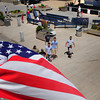 Salisbury: Flags are flying for the Fourth of July weekend, here at Salisbury Beach center overlooking the music stage where Sugarfoot & The Brass Kickin' Horns are playing tonight followed by fireworks. Amesbury Days events continue this weekend capped by fireworks at Woodsom Farm tomorrow night. Bryan Eaton/Staff Photo