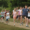 Newburyport: Runners head out for the inaugural Maudslay Thursday  Night Cross Country Race which will be held every Thursday at 6:00p.m. until August 19. There is a 3.0- and a 1.5-mile cross country race at Maudslay State Park on the Travis Landreth course. All ages are welcomed. Bryan Eaton/Staff Photo