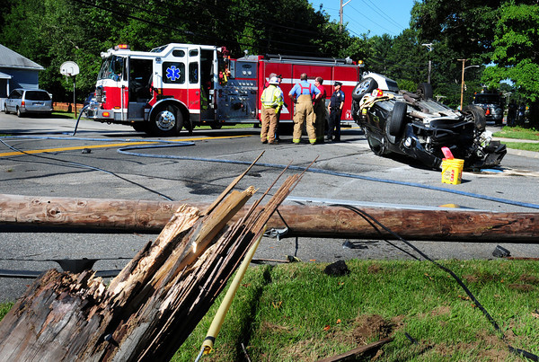 Salisbury: A lady walked away from this rollover after the vehicle knocked over a telephone pole on Beach Road in Salisbury just after 8:00a.m. yesterday morning. The road was closed for close to two hours waiting for utility crews to show up