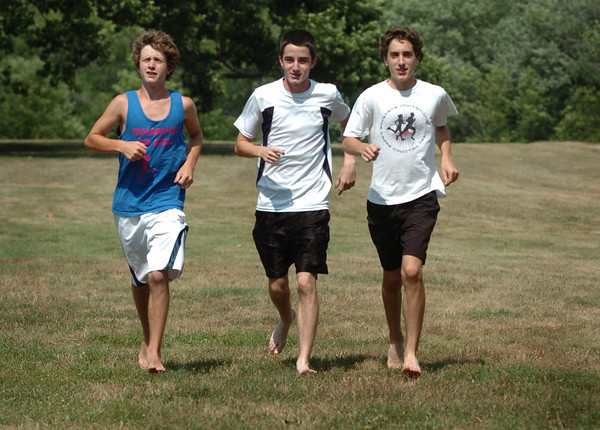 Newburyport: These three teens are running in this weekend's High Street Mile, from left, Keith Conway, Andrew Orlando and Chris Suprin. Bryan Eaton/Staff Photo