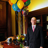 Newburyport: With balloons saying congratulations in his new office, Michael J. Jones, President and CEO of the Institution for Savings started work there yesterday. Bryan Eaton/Staff Photo