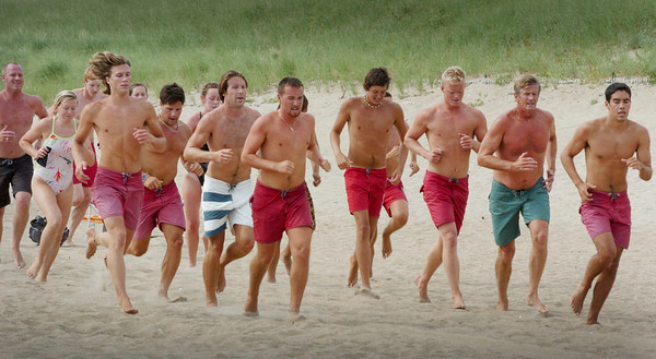 Salisbury: Salisbury Beach lifeguards practice for their DCR Lifeguard competition next week. Bryan Eaton/Staff Photo