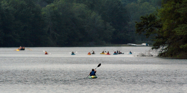 Amesbury: Kayakers made the best of this week's nice weather gliding along Lake Gardner in Amesbury, which furthur up is the Powow River. Bryan Eaton/Staff Photo