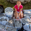 Salisbury: Kendall Mitchell, 11, of Salisbury collected 96 pounds of flip tops to help pay for software for kids at the Shriner's Hospital to play video games. Bryan Eaton/Staff Photo