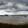 Seabrook: West winds brought clouds over Seabrook Harbor yesterday afternoon after a sunny start to the day. The sun returns for the weekend with temperatures rising as the holiday weekend goes on. Bryan Eaton/Staff Photo