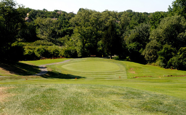Salem: The 2nd hole at Olde Salem Greens, a 251 yard par 3. Jim Vaiknoras/Staff photo