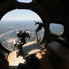 Bombardier's view from the nose of the Liberty Belle, a restored World War 2 era B-17 Flying Fortress during a flight over the Merrimack Valley. Jim Vaiknoras/staff photo