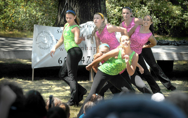 Newburyport: The Seacoast Civic Dance Company performs at Yankee Homecoming's Family Day at Maudslay Saturday afternoon. Jim Vaiknoras/Staff photo
